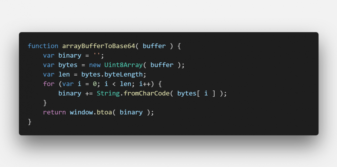javascript - ArrayBuffer to base64 encoded string