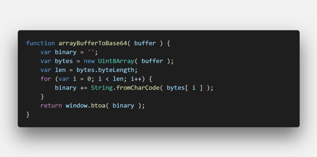 javascript - ArrayBuffer to base64 encoded string